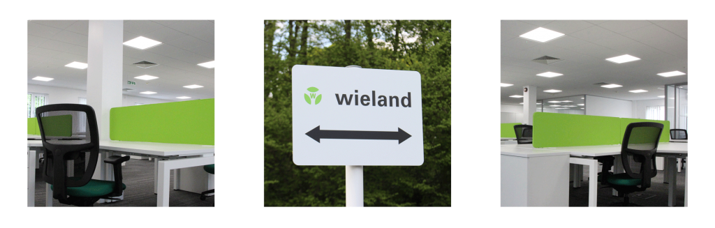 New to Tanshire Park Wieland Electric offices and logo