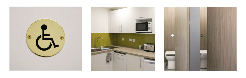 Completed business park kitchen, toilet and showerfacilities refurbishment work at Tanshire Park
